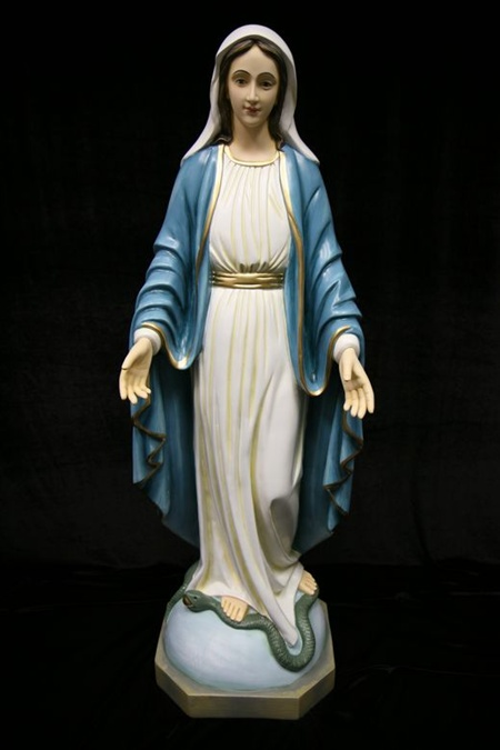Catholic Statues, Catholic figure- Our Lady of Grace. Our Lady of Grace figures, Our lady of grace statues indoor. Our lady of grace marble outdoor-Virgin Mary-vittoria collection