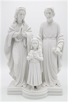 Sacred Holy Family Saint Joseph Mary Jesus Catholic Italian White Statue Sculpture Figurine By Vittoria Collection Made in Italy Religious Gift INDOOR OUTDOOR