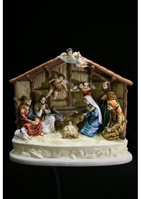 Nativity Set Scene Statue by Vittoria Collection Made in Italy. This piece of art is made out of a composite of powdered marble, stone, and alabaster. Item is then hand finished with special tools to refinish the details of this fantastic statue.
